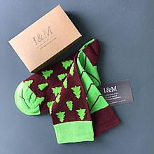Носки I&M Craft зеленые с елочками (070183)