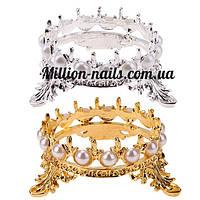 Подставка для кистей корона жемчуг