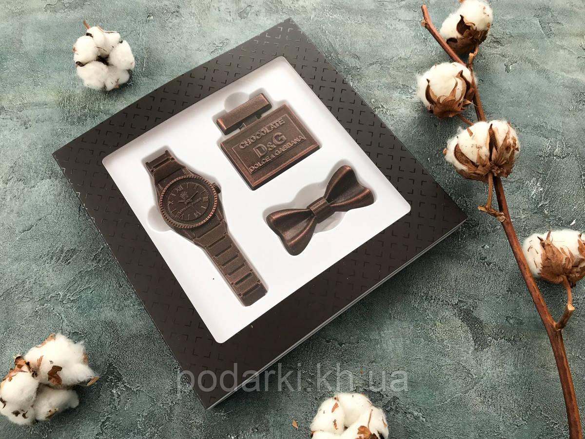 Шоколадный набор. Стильный подарок папе