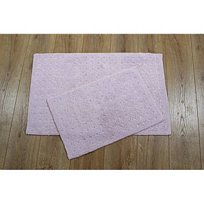 Набор ковриков для ванной комнаты Irya - Esta розовый (40*60 + 55*85)
