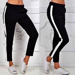 Женские спортивные штаны Slim Fit черного цвета (люкс копия)