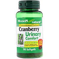 Mason Natural, Клюква для здоровья мочевыводящих путей, 90 мягких таблеток
