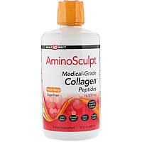 Health Direct, AminoSculpt, пептиды коллагена фармацевтической степени чистоты, со вкусом манго, без сахара, 16000 мг, 30 ж. унц. (887 мл)