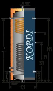 Аккумулирующий бак Корди АЕ-15I-2Т, фото 2