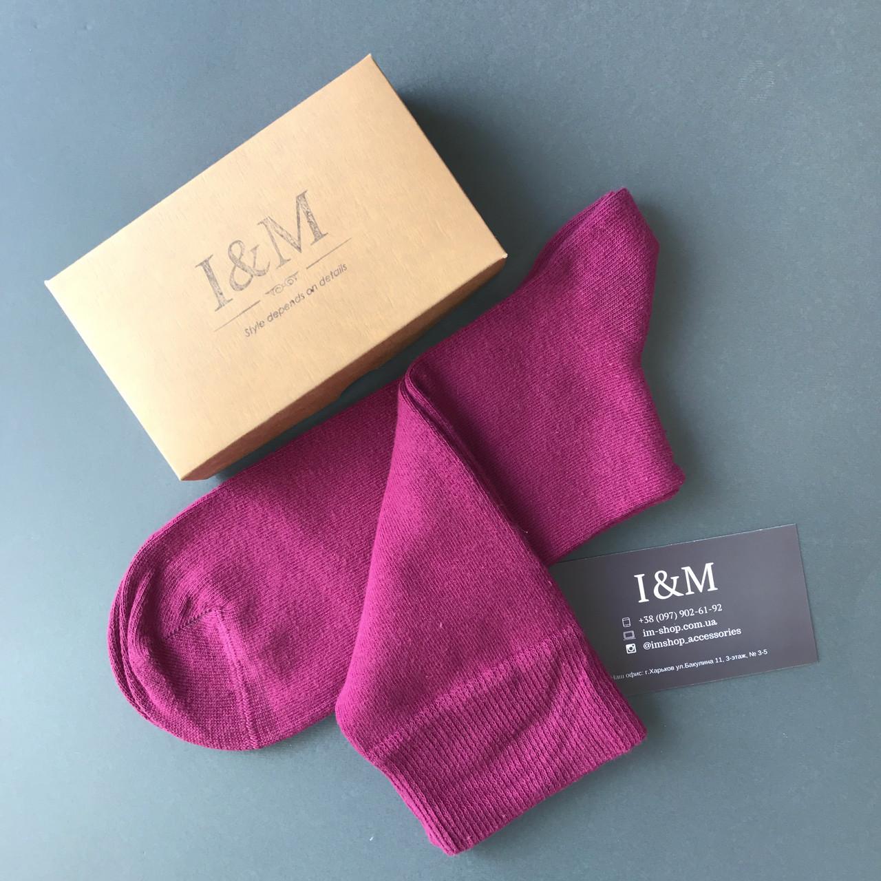 Носки I&M Craft однотонные фуксия (070192)