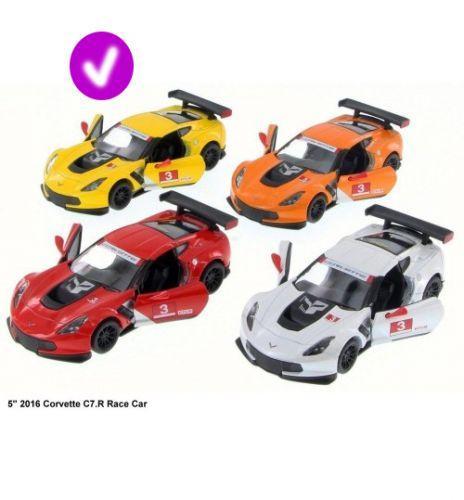 """Машинка KINSMART """"Chevrolet Corvette C7"""" (желтая) KT5397W"""