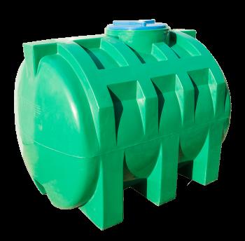 Емкость 1000 л горизонтальная двухслойная (зеленая), фото 2