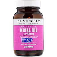 Dr. Mercola, масло антарктического криля для женщин, 90 капсул