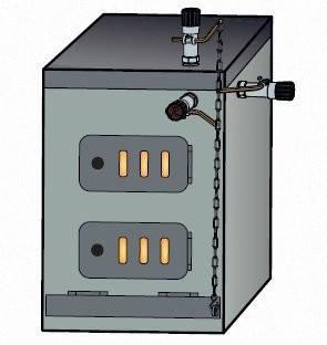 Регулятор тяги для котла Regulus RT4 с цепочкой, фото 2
