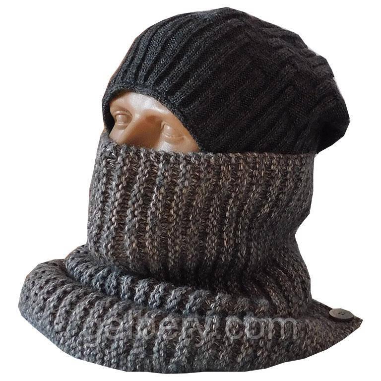 Зимний шарф - бафф ручной работы