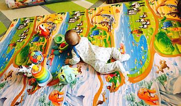 "Игровой коврик для ползания ребенка ""Мадагаскар"" PREMIUM XXL 2500x1200x12мм, фото 3"