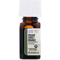 Aura Cacia, Organic, Sweet Orange, .25 fl oz (7.4 ml)
