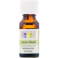 Aura Cacia, 100% Pure Essential Oil, Sweet Basil, .5 fl oz (15 ml)