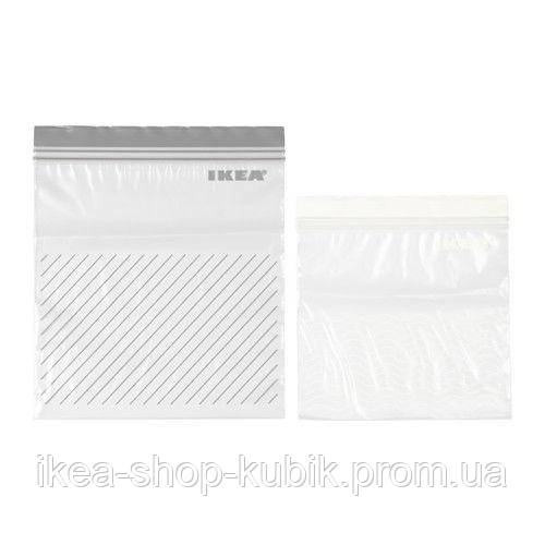 """IKEA """"ІСТАД"""" Пакет пластиковий, сірий/білий"""