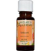 Nature's Alchemy, Vetivert, эфирное масло, 0,5 унции (15 мл)