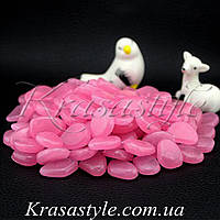 Светящиеся камни (100шт) розовые
