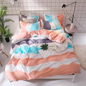 Комплект постельного белья Полосы с простынью на резинке (евро) Berni