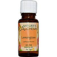 Nature's Alchemy, Эфирное масло лимонного сорго, 0,5 унции (15 мл)