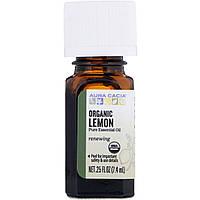 Aura Cacia, Organic Lemon, .25 fl oz (7.4 ml)