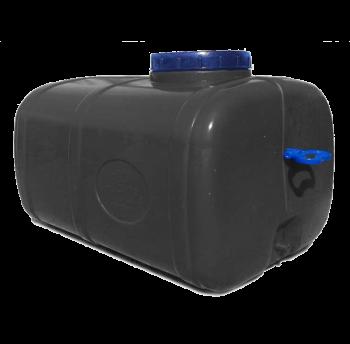 Емкость пластиковая 125 л непищевая прямоугольная (чёрная), фото 2