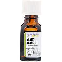 Aura Cacia, 100% чистые эфирные масла, иланг-иланг III, чувственный, 0,5 жидких унций (15 мл)