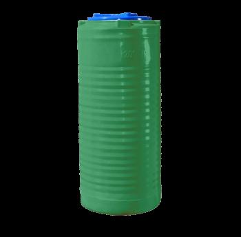 Емкость 200 л узкая, вертикальная зеленая