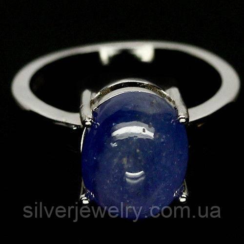 Серебряное кольцо с ТАНЗАНИТОМ (натуральный), серебро 925 пр. Размер 16,25