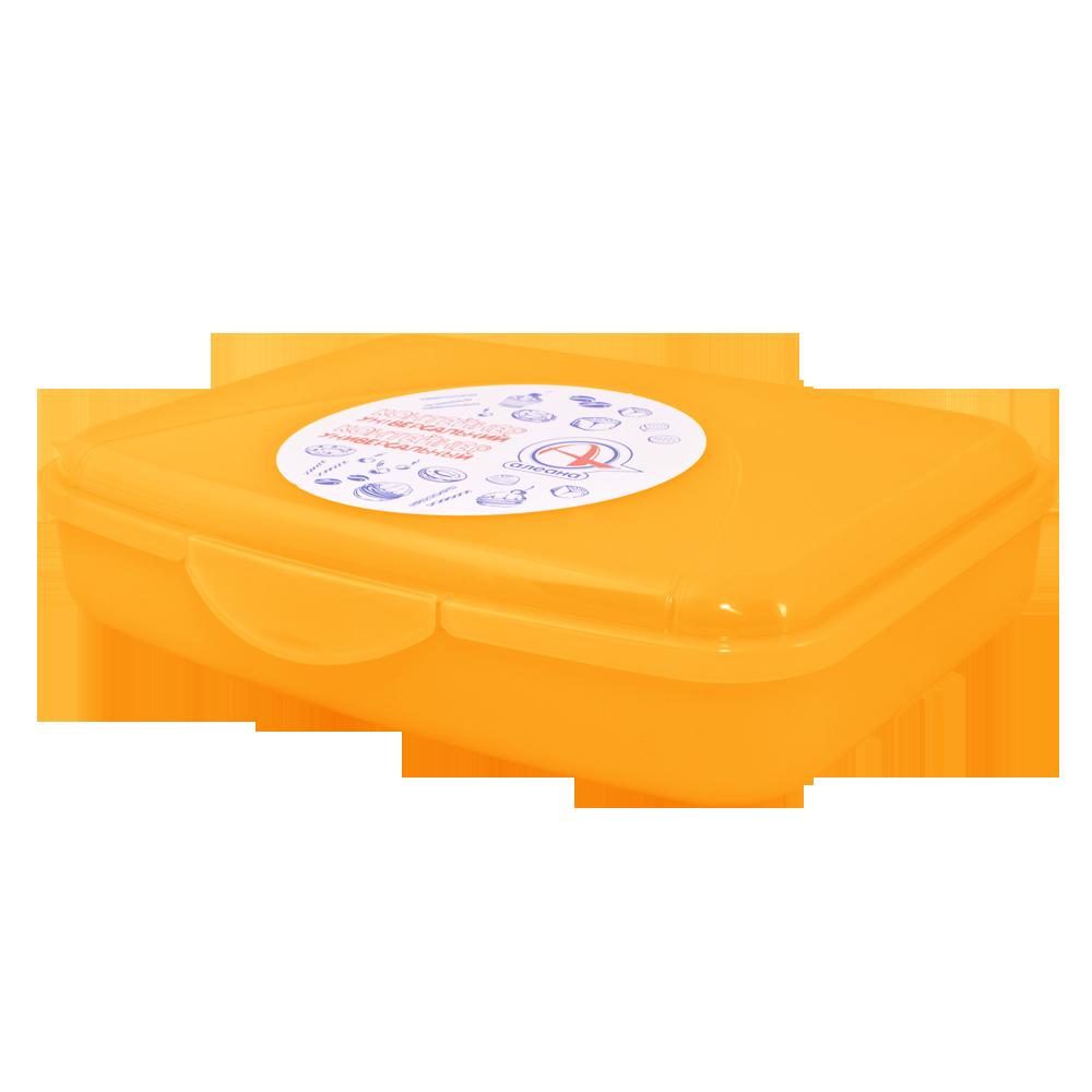 168016/2 універсальний Контейнер з затиском Алеана ., S (13*12*8), (оранж. прозрач)