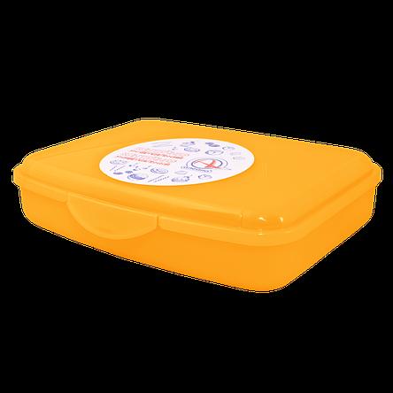 168016/2 універсальний Контейнер з затиском Алеана ., S (13*12*8), (оранж. прозрач), фото 2
