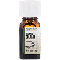 Органическое эфирное масло чайного дерева Aura Cacia, чайное дерево, 7,4 мл