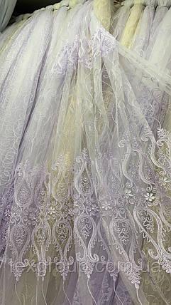Красивая тюль Корд белая 12708 , фото 2
