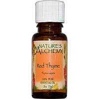 Nature's Alchemy, Красный тимьян, эфирное масло, 0,5 унции (15 мл)