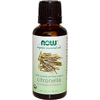 Now Foods, Citronella Oil, Certified Organic, 1 fl oz (30 ml)