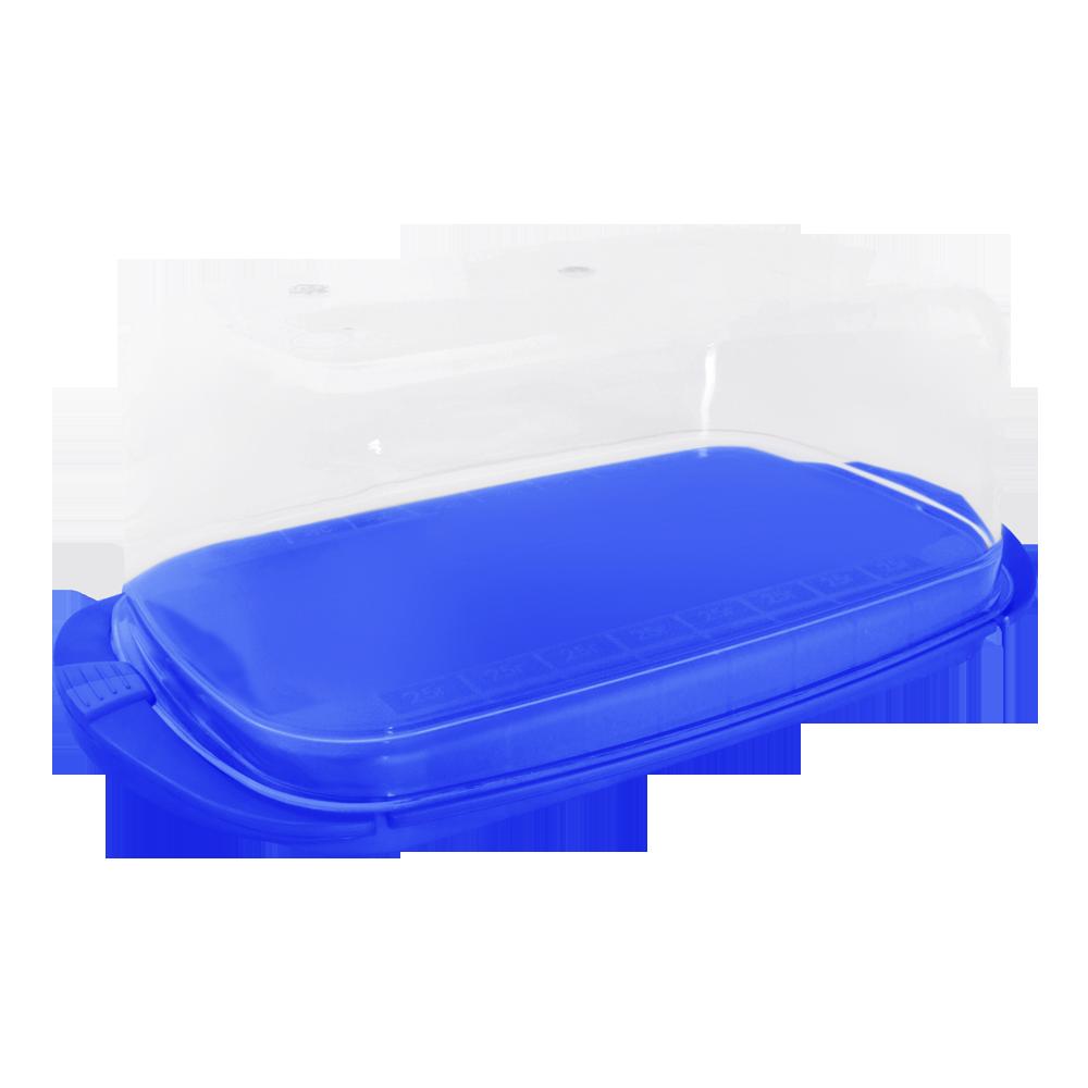 167009/6  Масленка с защелками и мерной шкалой Алеана , (синий)