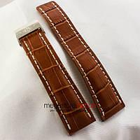 Кожаный ремешок для часов с клипсовой застежкой Breitling brown 24мм (05329), фото 1