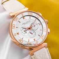 5bae1cba Женские наручные часы Louis Vuitton tambour monogram gold white (05339)  реплика, фото 1