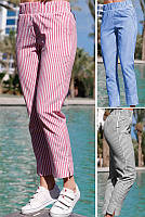 Легкие летние брюки Паула в полоску