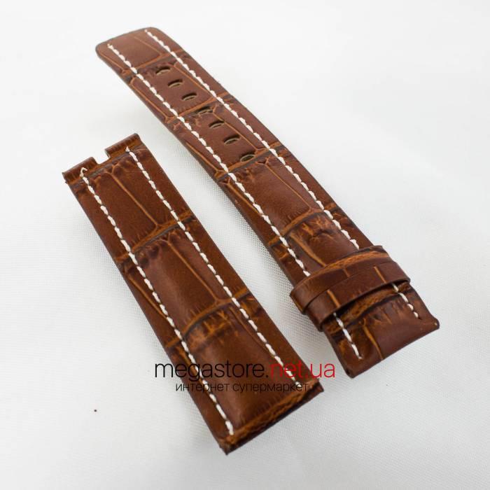 Кожаный ремешок для часов Breitling brown 24мм (05702)