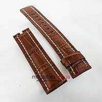 Кожаный ремешок для часов Breitling brown 24мм (05702), фото 1