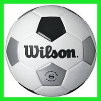 Мяч футбольный черно-белый размер 5 Wilson Traditional