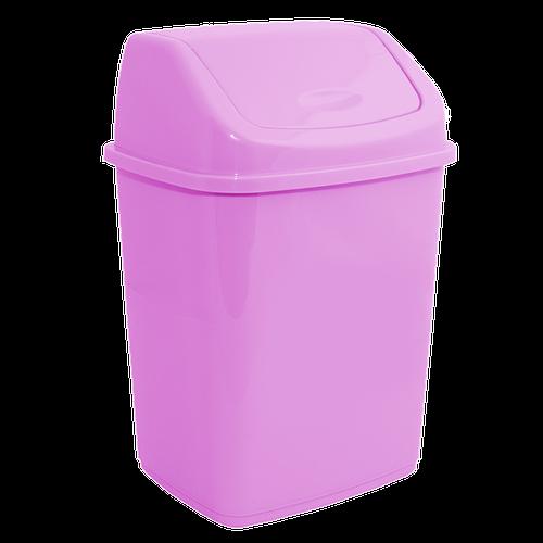 122061/19  Ведро для мусора Алеана с качающейся крышкой, 5л. (розовый)