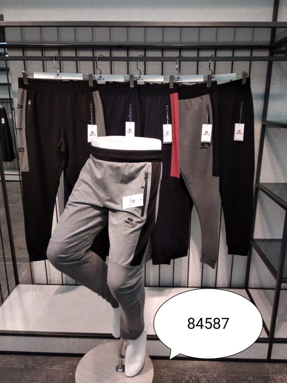 Мужские трикотажные брюки Tommy Life спортивные штаны на манжетах Модель 84587