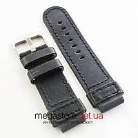 Кожаный ремешок для часов Breitling black 26мм (06420), фото 1
