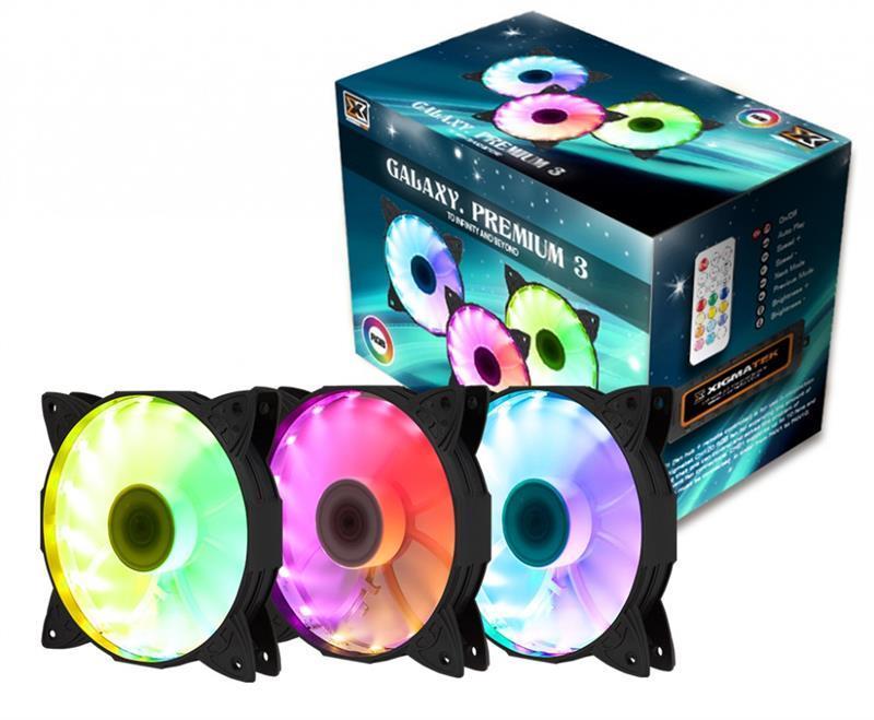 Набор вентиляторов Xigmatek Galaxy Premium 3 (EN40223), 3х120мм, 6-pin