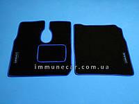 Авто ковры велюровые на MAN L-2000 водитель+пассажир синие