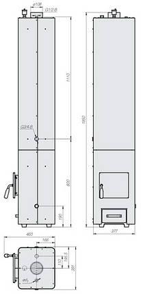 Котел твердотопливный Данко КВЦ-90, фото 2