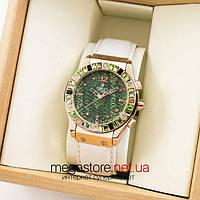 Женские наручные часы Hublot gold green (06927) реплика, фото 1