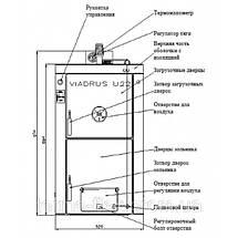 Чугунный твердотопливный котел Viadrus U22 5, фото 2