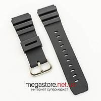 Каучуковый для часов ремешок Casio black 27 мм (07375), фото 1
