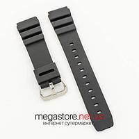 Каучуковый для часов ремешок Casio black 22 мм (07376), фото 1